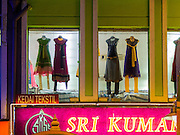 05 JUNE 2015 - KUALA LUMPUR, MALAYSIA:  A dress shop in the Little India section of Kuala Lumpur.    PHOTO BY JACK KURTZ