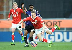 Bristol City's Matt Smith is fouled by West Ham's Alexandre Song - Photo mandatory by-line: Dougie Allward/JMP - Mobile: 07966 386802 - 25/01/2015 - SPORT - Football - Bristol - Ashton Gate - Bristol City v West Ham United - FA Cup Fourth Round