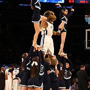 The Villanova Wildcats cheerleaders in action during the Villanova Wildcats Vs Seton Hall Pirates basketball game during the Big East Conference Tournament at Madison Square Garden, New York, USA. 12th March 2014. Photo Tim Clayton
