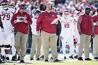 OXFORD, MS - OCTOBER 28:  Head Coach Bret Bielema of the Arkansas Razorbacks on the sidelines during a game against the Ole Miss Rebels at Hemingway Stadium on October 28, 2017 in Oxford, Mississippi.  The Razorbacks defeated the Rebels 38-37.  (Photo by Wesley Hitt/Getty Images) *** Local Caption *** Bret Bielema