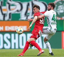 25.05.2019, Allianz Stadion, Wien, AUT, 1. FBL, SK Rapid Wien vs Cashpoint SCR Altach, Qualifikationsgruppe, 32. Spieltag, im Bild v.l. Mergim Berisha (Cashpoint SCR Altach) und Patrick Obermueller (SK Rapid Wien) // during the tipico Bundesliga qualification group 32nd round match between SK Rapid Wien and Cashpoint SCR Altach at the Allianz Stadion in Wien, Austria on 2019/05/25. EXPA Pictures © 2019, PhotoCredit: EXPA/ Thomas Haumer