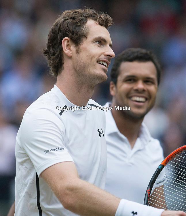 WIMBLEDON - GB -  6th July 2016: The Wimbledon Tennis Championship at the All England Lawn Tennis Club in S.E. London.<br /> <br /> Andy Murray vs Jo-Wilfried TSONGA<br /> &copy;Ian Jones/ Exclusivepix Media