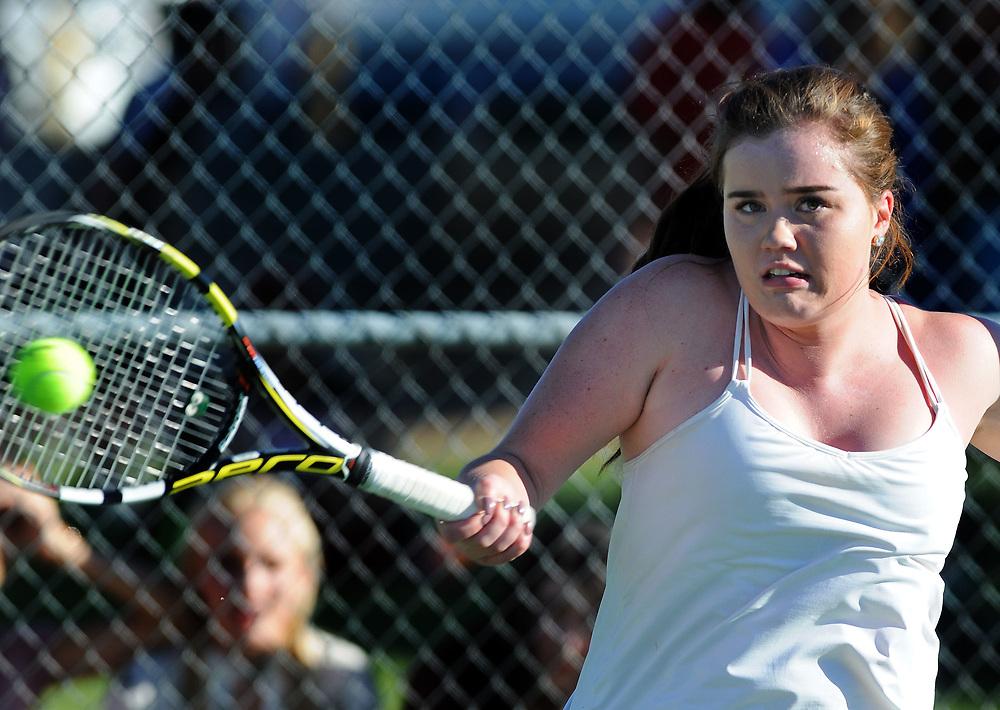 girls state tennis6/sports/jim thompson/ Girls 6A State Tennis championships.  Thursday May. 04, 2017. (Jim Thompson/Albuquerque Journal)