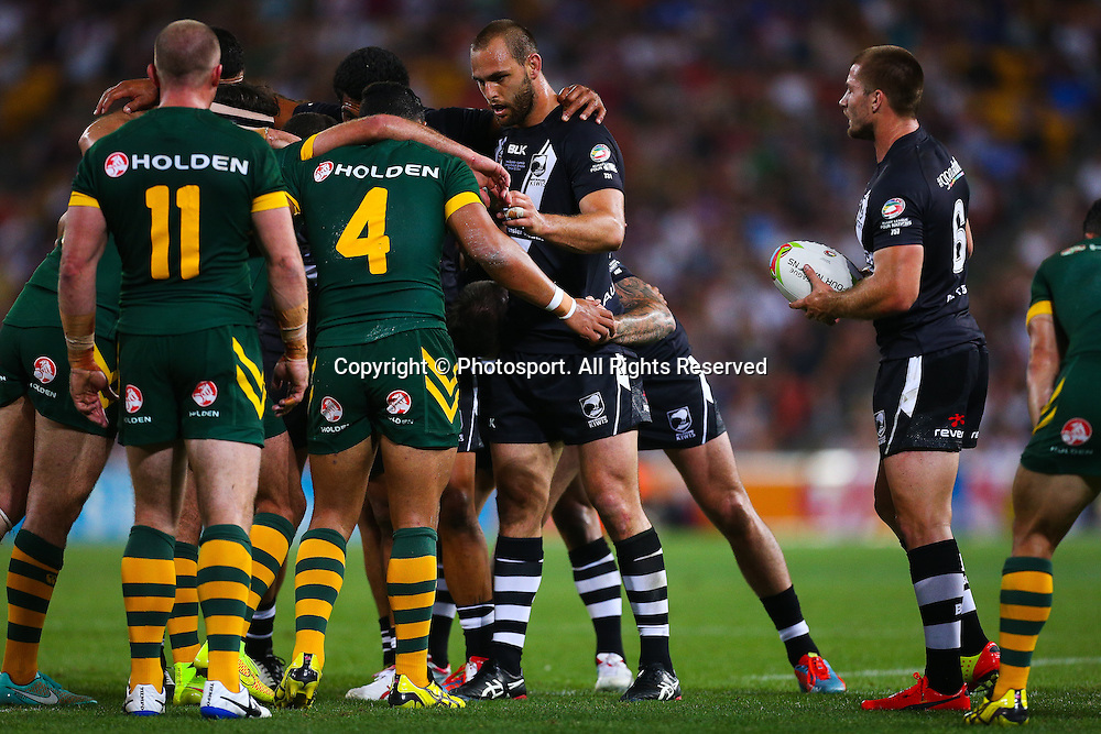 during the Four Nations test match between Australia and New Zealand at Suncorp Stadium,  Brisbane Australia on October 25, 2014.
