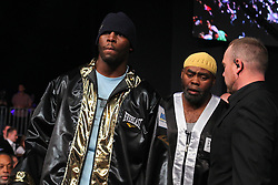 Dec 22, 2012; New York, NY, USA; Steve Cunningham walks to the ring for his 12 round IBF North American Heavyweight title bout against Tomasz Adamek at the Sands Casino Resort Bethlehem.
