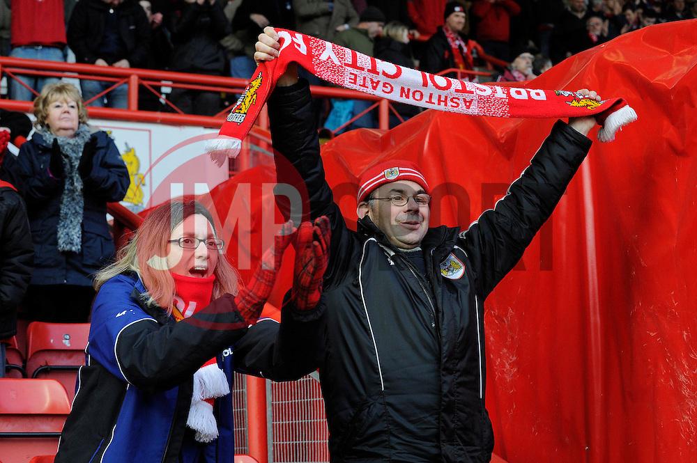 Bristol City fans - Photo mandatory by-line: Dougie Allward/JMP - Tel: Mobile: 07966 386802 01/03/2014 - SPORT - FOOTBALL - Bristol - Ashton Gate - Bristol City v Gillingham - Sky Bet League One