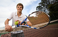 JAMES BOARDMAN / 07967642437.Tennis Player Tommy Bennett 16 at Kingston Tennis Club in East Sussex were he learnt to play..