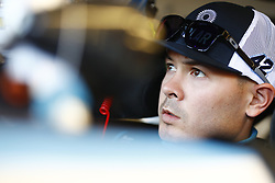 March 2, 2018 - Las Vegas, Nevada, United States of America - March 02, 2018 - Las Vegas, Nevada, USA: Kyle Larson (42) straps into his car to practice for the Boyd Gaming 300 at Las Vegas Motor Speedway in Las Vegas, Nevada. (Credit Image: © Chris Owens Asp Inc/ASP via ZUMA Wire)