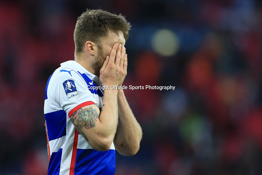 18th April 2015 - FA Cup - Semi-Final - Reading v Arsenal - Jamie Mackie of Reading looks dejected - Photo: Simon Stacpoole / Offside.