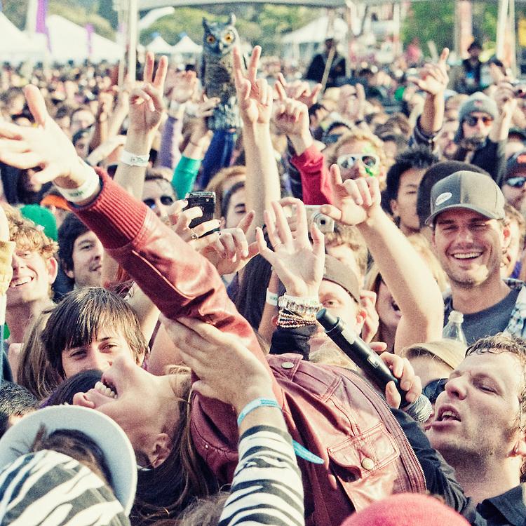 !!! perform at The Treasure Island Music Festival 2010