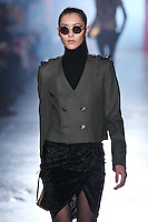 Liu Wen walks down runway for F2012 Jason Wu's collection in Mercedes Benz fashion week in New York on Feb 10, 2012 NYC