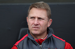 File photo dated 08-04-2018 of Gloucester Head Coach Johan Ackermann during the Aviva Premiership match at Sandy Park, Exeter.