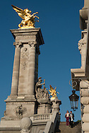 France. Paris Pont Alexandre-III bridge on the Seine River / Le Pont Alexandre 3 sur la Seine