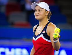September 26, 2018 - Ashleigh Barty of Australia after winning her third-round match at the 2018 Dongfeng Motor Wuhan Open WTA Premier 5 tennis tournament (Credit Image: © AFP7 via ZUMA Wire)