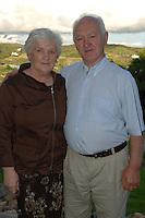 Bridie and Bobby Bolger Ballyconneely at the launch of the Connemara Pony Show  in the Abbeyglen Castle Hotel in Clifden. The Connemara Pony Show  is to be held on the 16th August  in Clifden. Photo:Andrew Downes. Photo issued with Compliments, No reproduction fee.
