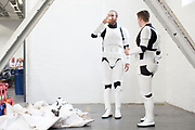 UNITED KINGDOM, London: 06 August 2019 <br /> Promotors of Stormtrooper Space Craft Beer enjoy a beer break at The Great British Beer Festival at Kensington Olympia earlier today. The five day festival will see approximately 200,000 pints of beer consumed by beer enthusiasts. <br /> Rick Findler / Story Picture Agency
