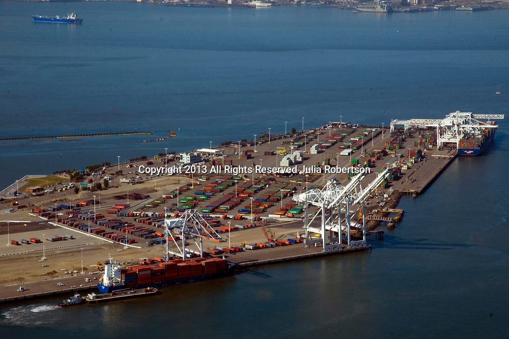Aerial view of Port of Oakland, California