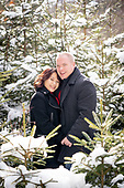 engagement photos - Dumfries Conservation winter photo shoot, Cambridge, Ontario