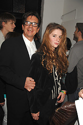 FRANCESCO BOGLIONE and his daughter RUBY BOGLIONE at a party to celebrate the opening of a new art gallery, 20 Hoxton Square, Hoxton Square, London on 27th April 2007.<br />