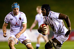 Joel Kpoku of England U20 - Mandatory by-line: Robbie Stephenson/JMP - 22/02/2019 - RUGBY - Zip World Stadium - Colwyn Bay, Wales - Wales U20 v England U20 - Under-20 Six Nations