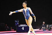 Mmarine Boyer (FRANCE) during the team floor contest during the European Championships Glasgow 2018, Women's Artistic Gymnastics , Team Final at The SSE Hydro in Glasgow, Great Britain, Day 3, on August 4, 2018 - Photo Laurent Lairys / ProSportsImages / DPPI