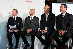 Jacob Wallenberg, Torbjorn Tornqvist, Richard Worth and Paul Cayard. Artemis Racing and The Royal Swedish Yacht Club confirmed the team's entry as a Challenger for the 34th America's Cup, which will include competing in the America's Cup World Series in 2011-2012 and culminate with the Challenger Selection Series in 2013. Stockholm, Monday  8 november © Sander van der Borch / Artemis Racing.