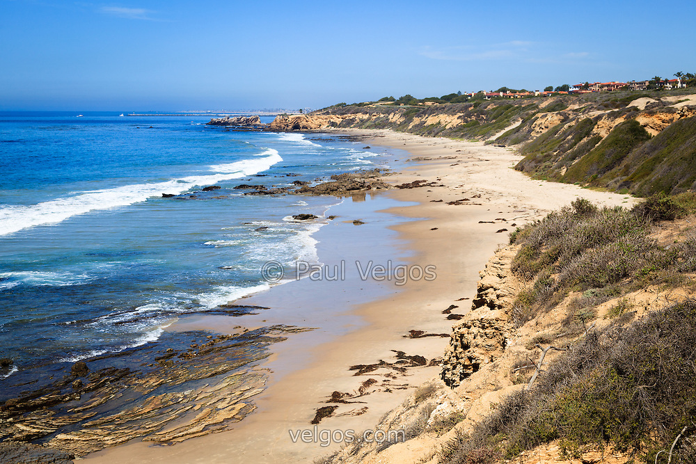 Photo of Orange County California at Crystal Cove State Park. Crystal Cove is located along the Pacific Ocean in Laguna Beach and Newport Beach in Southern California.