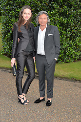 LEON & YANA MAX at The Ralph Lauren & Vogue Wimbledon Summer Cocktail Party at The Orangery, Kensington Palace, London on 22nd June 2015.  The event is to celebrate ten years of Ralph Lauren as official outfitter to the Championships, Wimbledon.
