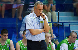 Zmago Sagadin, head coach of Slovenia during basketball match between National teams of Sweden and Slovenia in First Round of U20 Men European Championship Slovenia 2012, on July 13, 2012 in Domzale, Slovenia. (Photo by Vid Ponikvar / Sportida.com)
