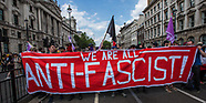 14 Jul 2018 - Anti-fascists protest with counter rally against Tommy Robinson & Trump supporters.