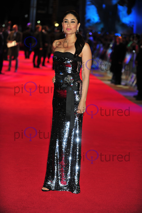 Kareena Kapoor attends the UK premiere of RA One , the first Bollywood film released in the UK in 3D at the O2 in London . Photo credit should read ALAN ROXBOROUGH /Piqtured