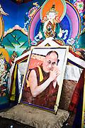 Photo of the Dalai Lama at Stakna monastery, Leh valley.