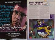 All Ireland Senior Hurling Championship Final,.09.09.2001, 9th September 2001,.Minor Cork 2-10, Galway 1-8,.Senior Tipperary 2-18, Galway 2-15,  .09092001AISHCF,.The Irish Times,