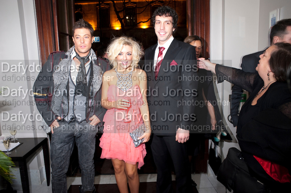 DUNCAN JAMES; SHERIDAN SMITH;  ALEX GAUMOND, , Savoy Theatre's Legally Blonde- The Musical,  Gala night. After-party at the Waldorf Hilton. London. 13 January 2010. *** Local Caption *** -DO NOT ARCHIVE-© Copyright Photograph by Dafydd Jones. 248 Clapham Rd. London SW9 0PZ. Tel 0207 820 0771. www.dafjones.com.<br /> DUNCAN JAMES; SHERIDAN SMITH;  ALEX GAUMOND, , Savoy Theatre's Legally Blonde- The Musical,  Gala night. After-party at the Waldorf Hilton. London. 13 January 2010.
