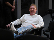 April 26, 2019: Alameda, CA, United States: Oakland Raiders' owner Mark Davis at press conference at Raiders Headquarters.   (Gerome Wright/Image of Sport)