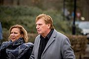 Uitvaart Mies Bouwman in een crematorium in Leusden.<br /> <br /> Op de foto:  Hennie Huisman
