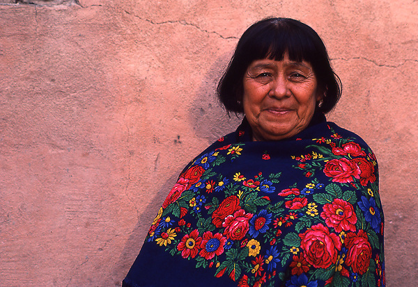 Portrait of elderly woman in New Mexico.