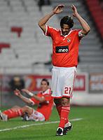 20091217: LISBON, PORTUGAL - SL Benfica vs AEK Athens: Europa League 2009/2010 - Group Stage. In picture: Nuno Gomes (Benfica). PHOTO: Alvaro Isidoro/CITYFILES