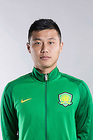Portrait of Chinese soccer player Wei Xin of Beijing Sinobo Guoan F.C. for the 2017 Chinese Football Association Super League, in Benahavis, Marbella, Spain, 18 February 2017.