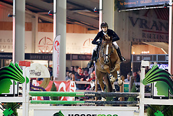 Spits Thibault, BEL, Nono vd Withoeve<br /> Pavo hengstencompetitie 5 jaar<br /> Hengstenkeuring BWP - Lier 2018<br /> © Dirk Caremans<br /> 20/01/2018