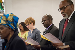 24 November 2019, Geneva, Switzerland: Members of the World Council of Churches Executive Committee attend Sunday service at the Emmanuel Episcopal Church, Geneva.