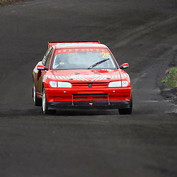 MSA British Rallycross Round 3, Knockhill Scotland 12th May 2013. Local driver Andy Scott, Peugeot 306 - MSA Super Car 26 wins the super car class (c) MATT BRISTOW
