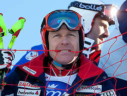 27.12.2011, Pista Stelvio, Bormio, ITA, FIS Weltcup Ski Alpin, Herren, Abfahrt, 1. Training, im Bild am Start Didier Cuche (SUI) // Didier Cuche of Switzerland at the start before first practice session downhill of FIS Ski Alpine World Cup at 'Pista Stelvio' in Bormio, Italy on 2011/12/27. EXPA Pictures © 2011, PhotoCredit: EXPA/ Johann Groder