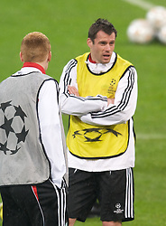 MILAN, ITALY - Monday, March 10, 2008: Liverpool's Jamie Carragher training at the San Siro Stadium ahead of the UEFA Champions League First knockout round 2nd Leg match against FC Internazionale Milano. (Pic by David Rawcliffe/Propaganda)