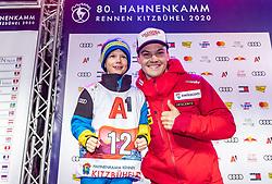 25.01.2020, Streif, Kitzbühel, AUT, FIS Weltcup Ski Alpin, Slalom, Herren, Startnummernauslosung, im Bild Loic Meillard (SUI) // Loic Meillard of Switzerland during the draw of starting numbers for the men's Slalom of FIS Ski Alpine World Cup at the Streif in Kitzbühel, Austria on 2020/01/25. EXPA Pictures © 2020, PhotoCredit: EXPA/ Johann Groder