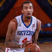 Delaware 87ers Guard JORDAN MCRAE (4) attempts a free-throw in the second half of a NBA D-league regular season basketball game between the Delaware 87ers and the Canton Charge Tuesday, JAN, 26, 2016 at The Bob Carpenter Sports Convocation Center in Newark, DEL.<br /> <br /> Delaware 87ers guard Jordan McRae broke the NBA minor league&rsquo;s single-game scoring record going 21-34 finishing with 61 points in a 130-123 overtime win over the Canton Charge.