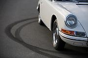 Image of a white Porsche 912 Prototype, Porsche 902, California, America west coast