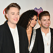 Sonny Jay, Vick Hope, Roman Kemp Capital's Jingle Bell Ball with Coca-Cola at London's O2 Arena on 9th December 2018, London, UK.