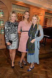 Left to right, POPPY JAMIE, GRETA BELLAMACINA and HANNAH SHEEN at a party to celebrate the publication of 'Let's Eat meat' by Tom Parker Bowles held at Fortnum & Mason, Piccadilly, London on 21st October 2014.