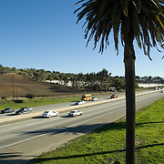 Freeway 101 near Camarillo, CA. USA.